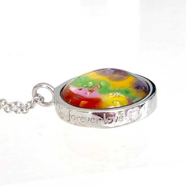 Forever Love Ashes in Glass Pendant